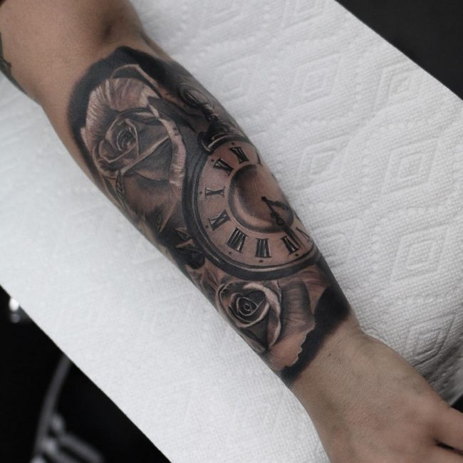 pocket watch tattoo55