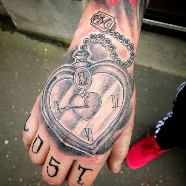 pocket watch tattoo56