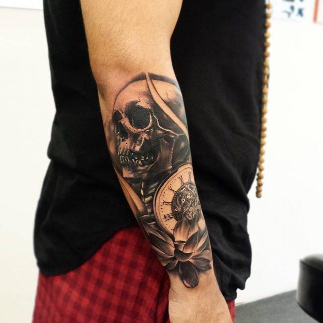 pocket watch tattoo57