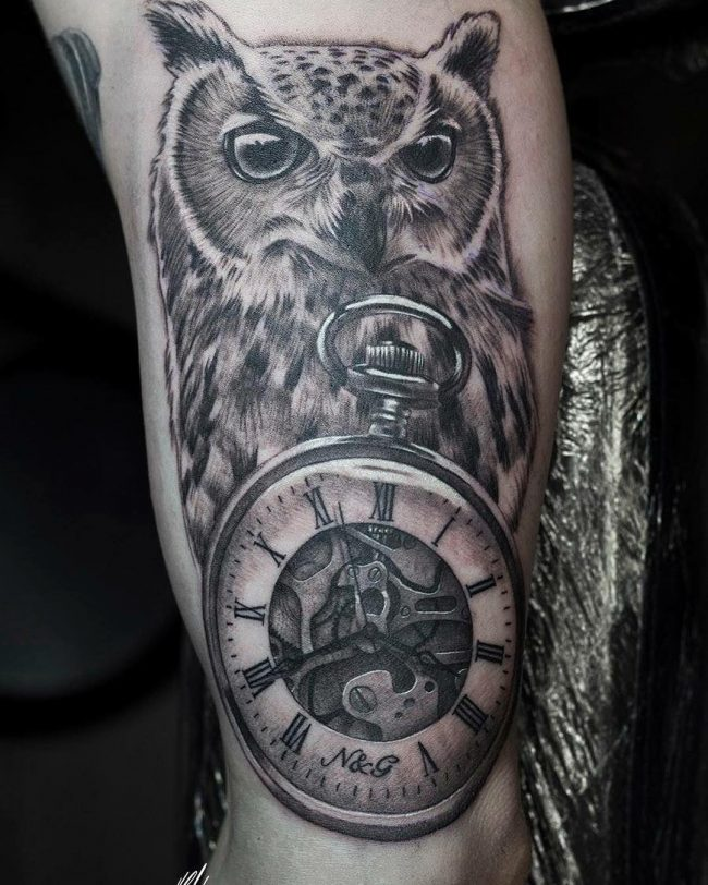 pocket watch tattoo59