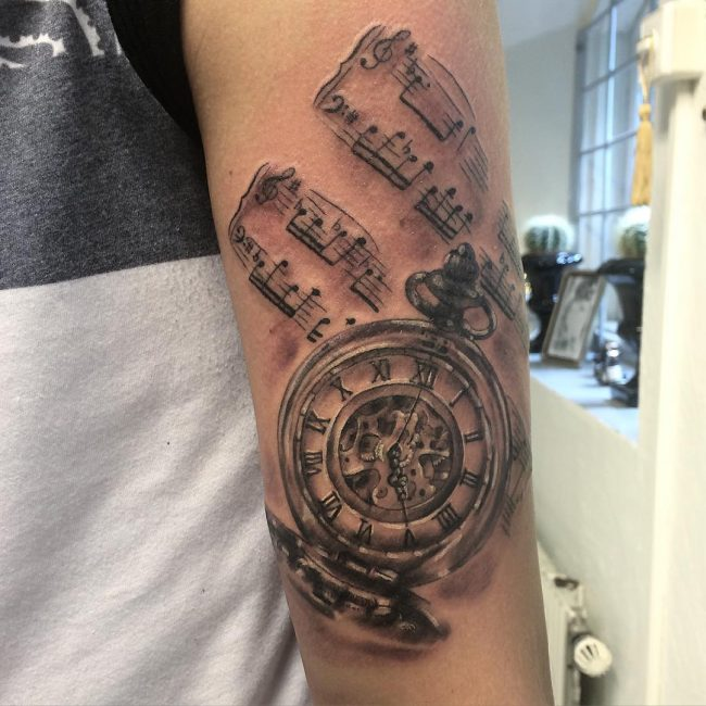 pocket watch tattoo62