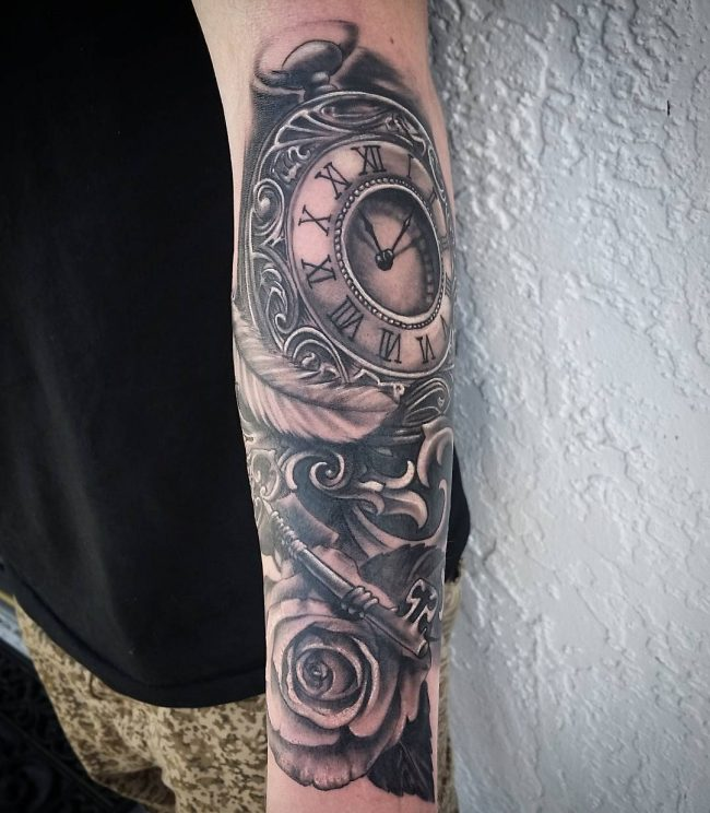 pocket watch tattoo63
