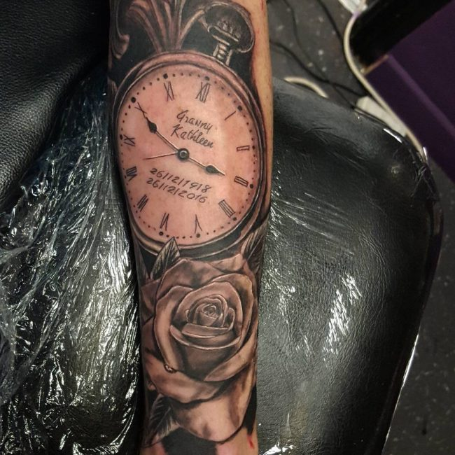 pocket watch tattoo66