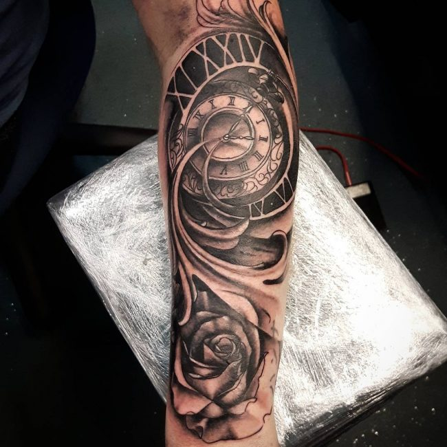 pocket watch tattoo69