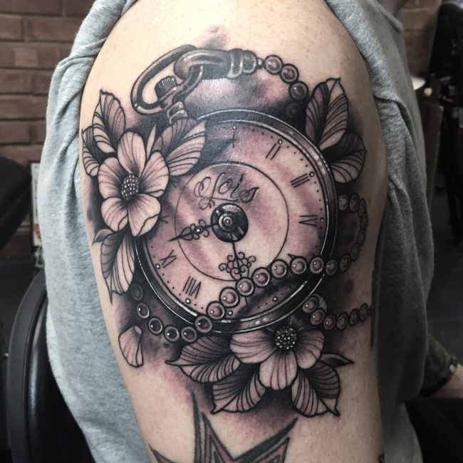 pocket watch tattoo71