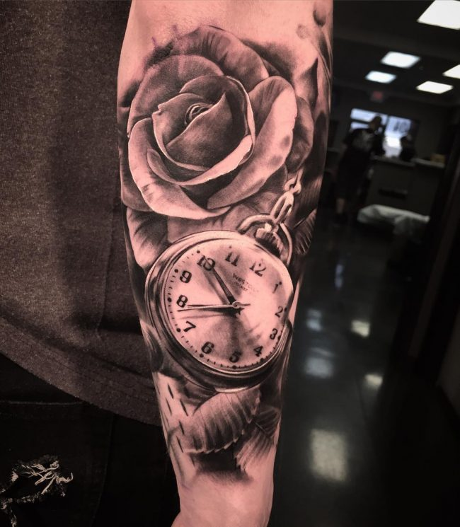 pocket watch tattoo75