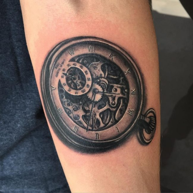 pocket watch tattoo78