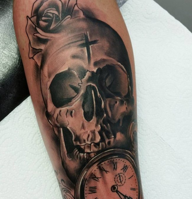 pocket watch tattoo79
