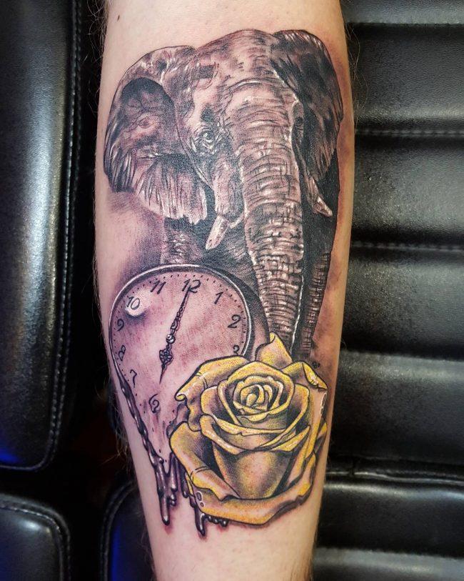 pocket watch tattoo9