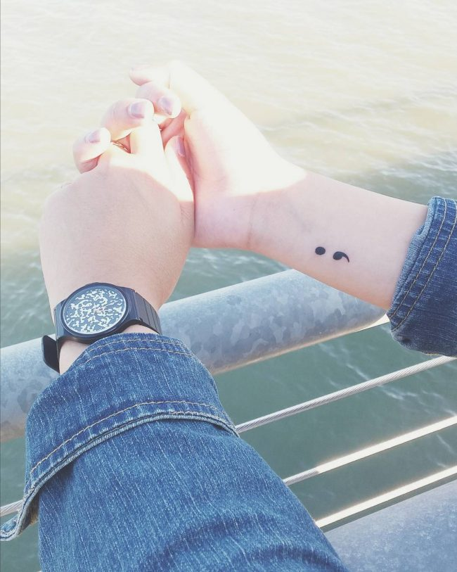 semicolon tattoo22