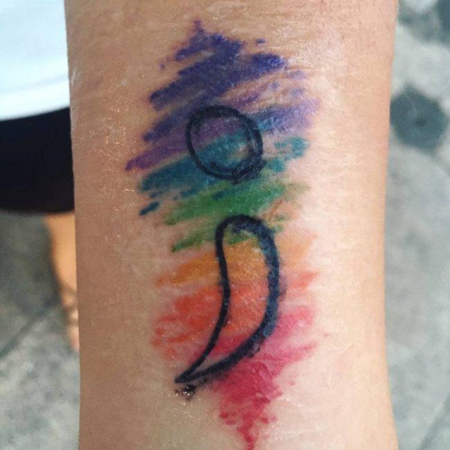 semicolon tattoo24