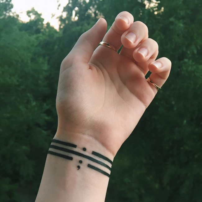 semicolon tattoo35