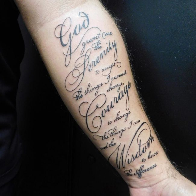 serenity prayer tattoo1