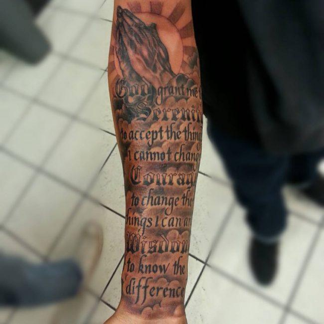 serenity prayer tattoo13