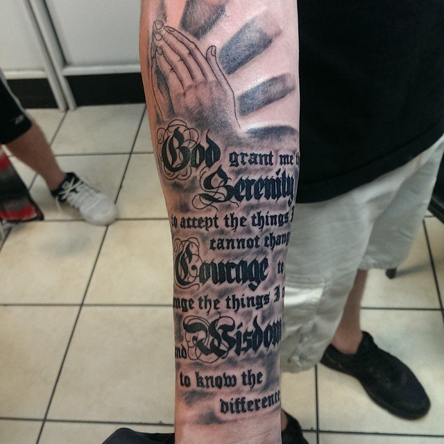 serenity prayer tattoo18