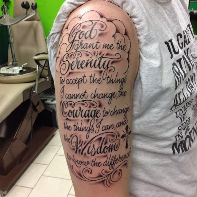 serenity prayer tattoo24