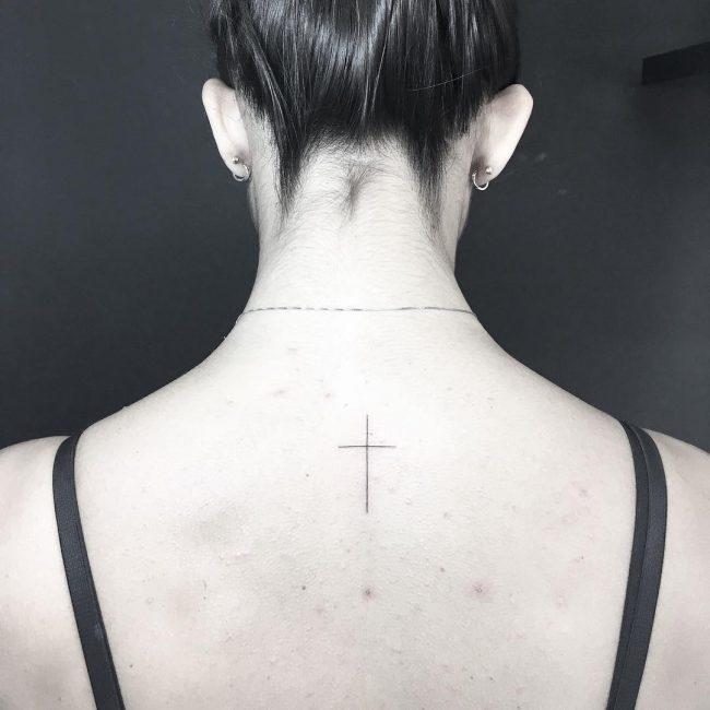 small cross tattoo11