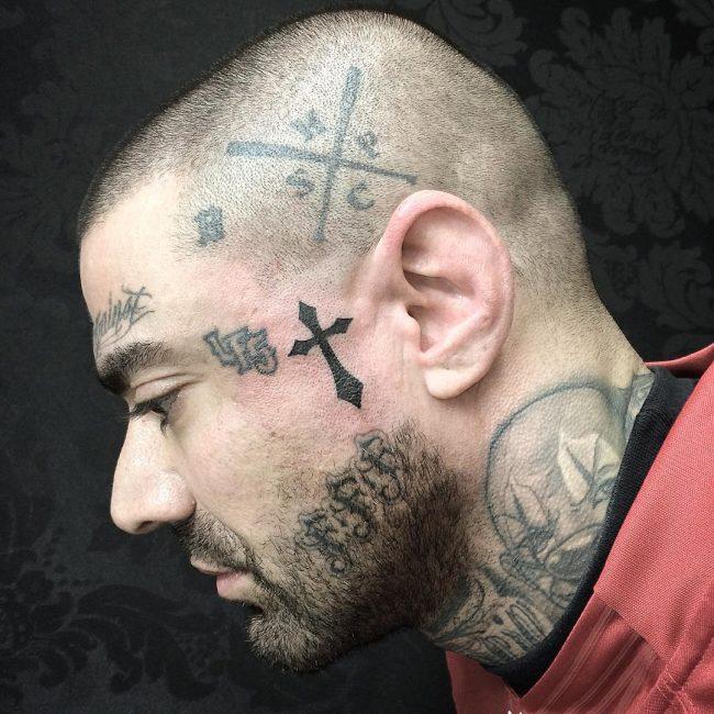 small cross tattoo17
