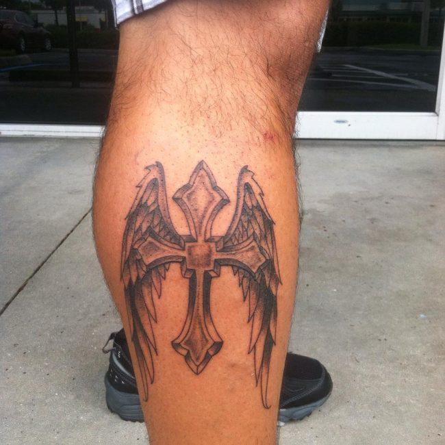 small cross tattoo20