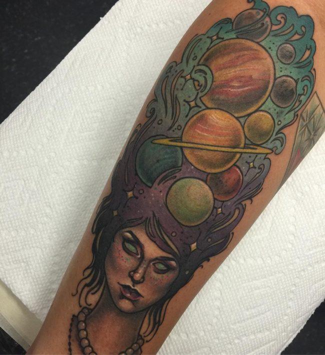 solar system tattoo10