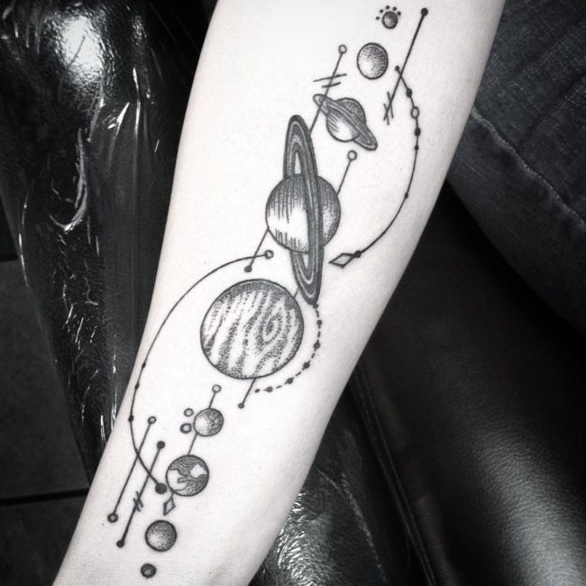 solar system tattoo - photo #5