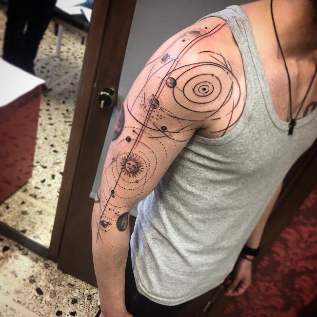 solar system tattoo19