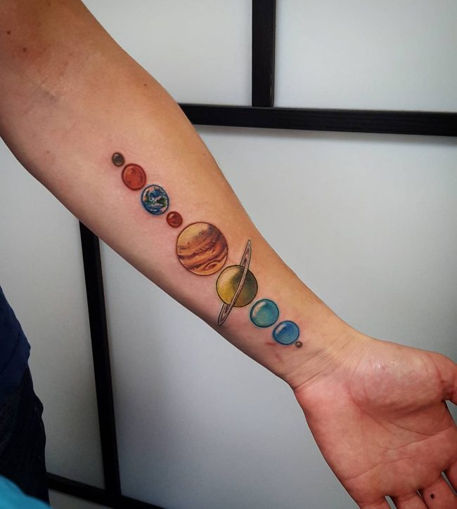 tattoos on wrist of the solar system -#main