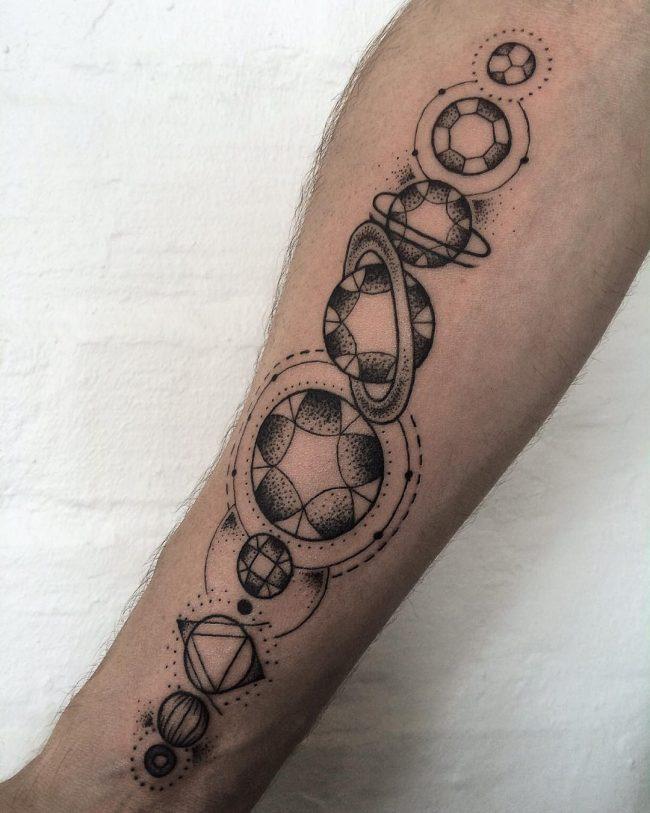 solar system tattoo23