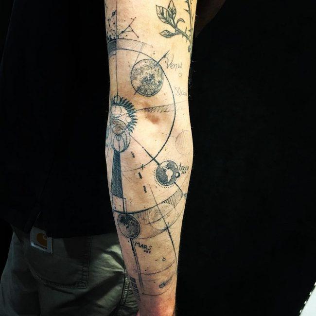 solar system tattoo26