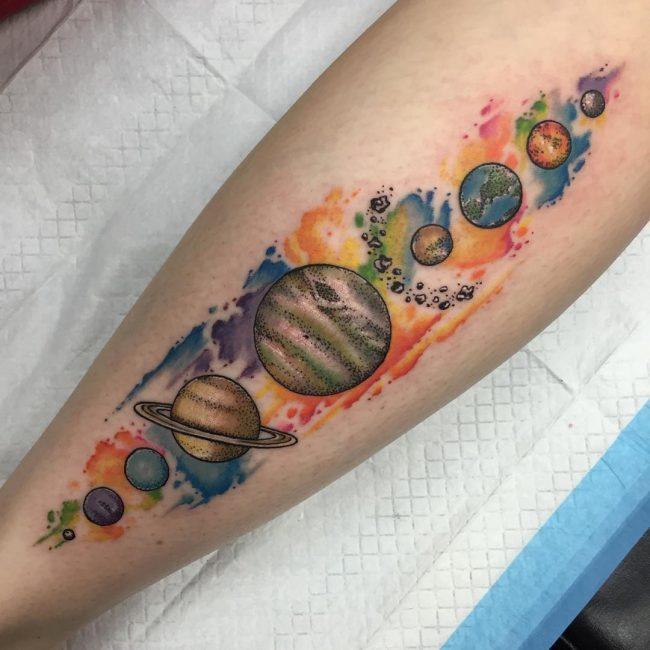 solar system tattoo27