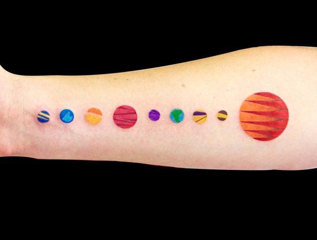 solar system tattoo3