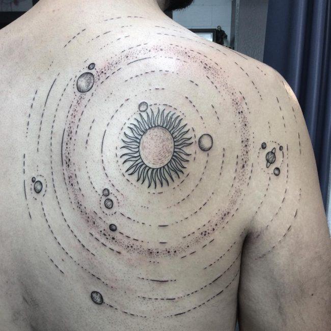 solar system tattoo33