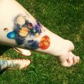 solar system tattoo34