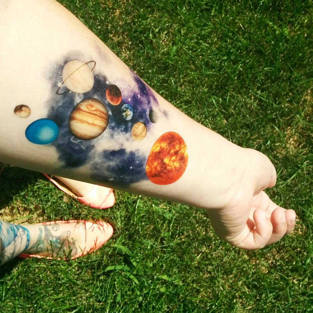 65+ Facinating Solar System Tattoo Designs