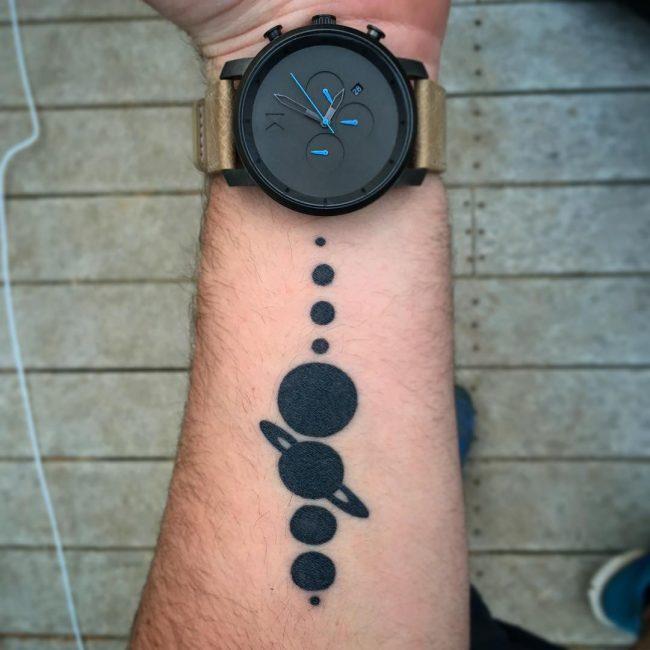 solar system tattoo5