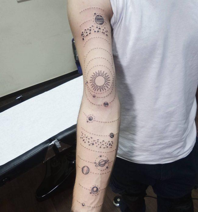 solar system tattoo7