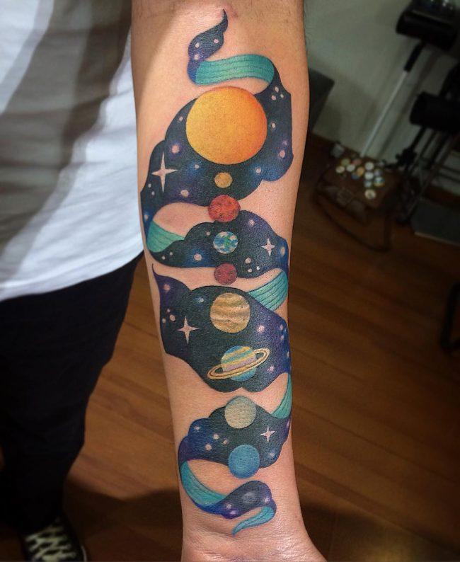 solar system tattoo8