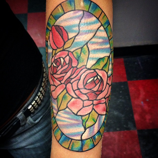 stained glass tattoo11