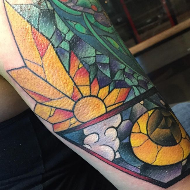 stained glass tattoo18