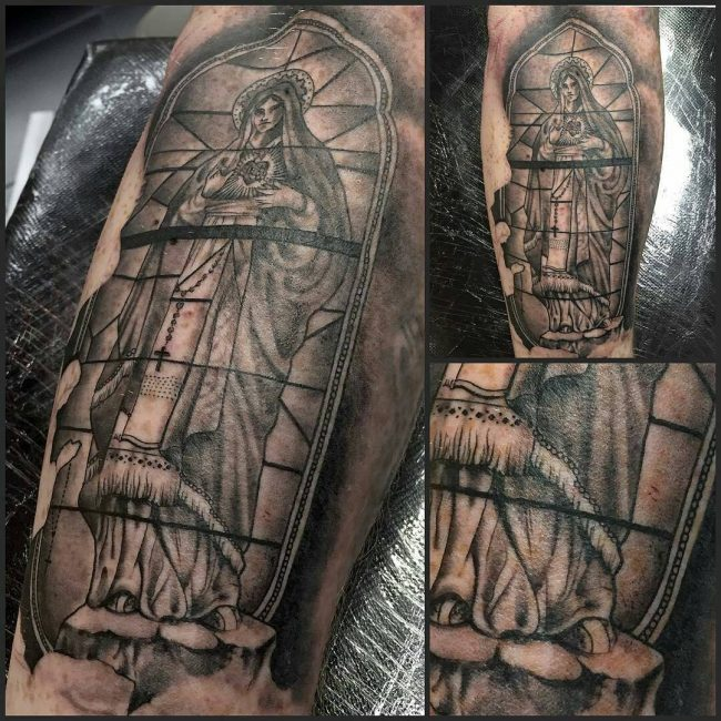 stained glass tattoo19
