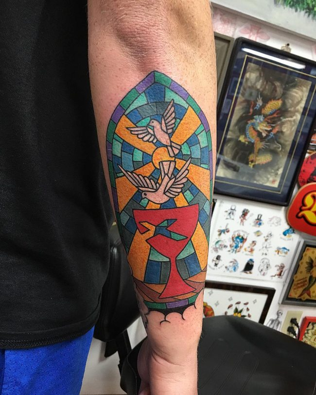 stained glass tattoo2