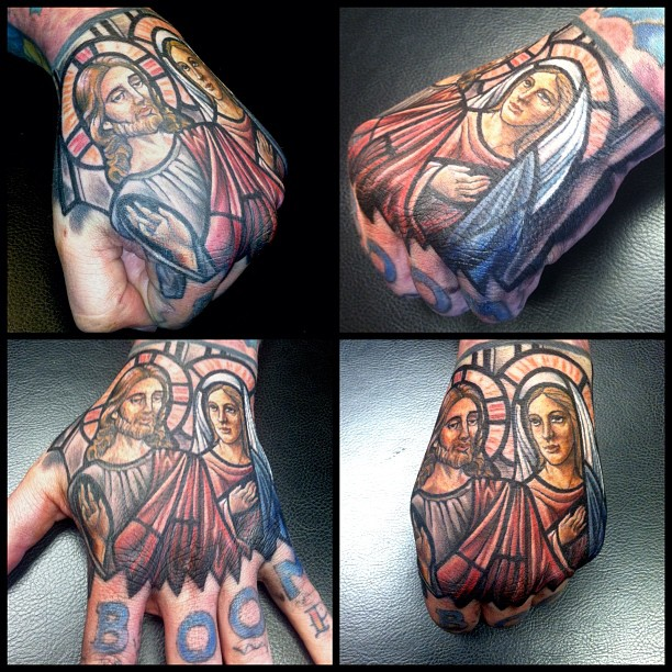stained glass tattoo21
