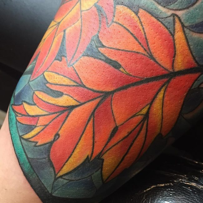stained glass tattoo22