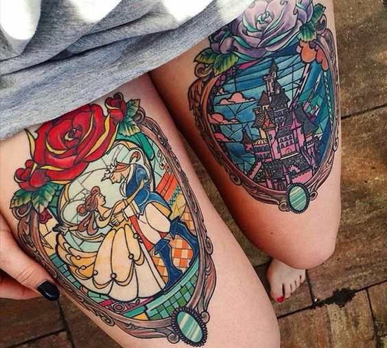 stained glass tattoo31
