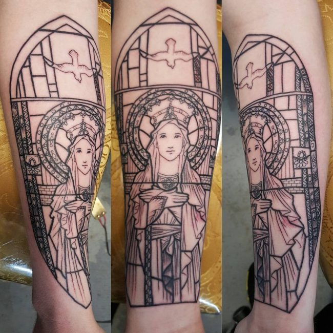 stained glass tattoo4