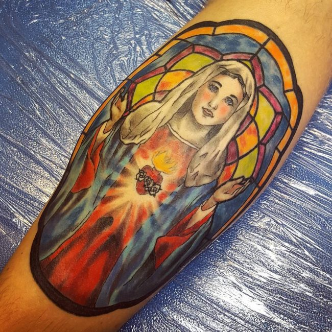stained glass tattoo5
