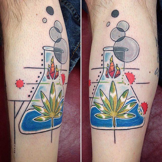 weed tattoo12