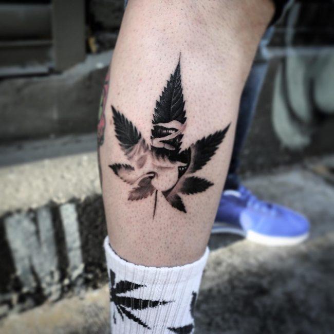 weed tattoo2