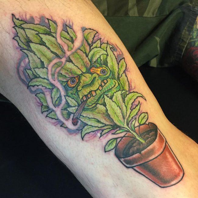 weed tattoo24