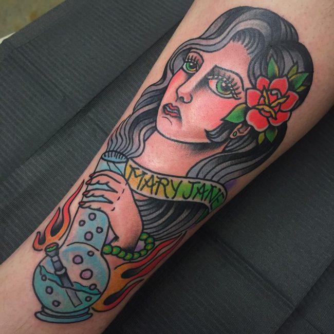 weed tattoo27